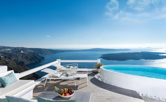 Aqua Luxury Suites, Imerovigli, Santorini, Cyclades, Greece