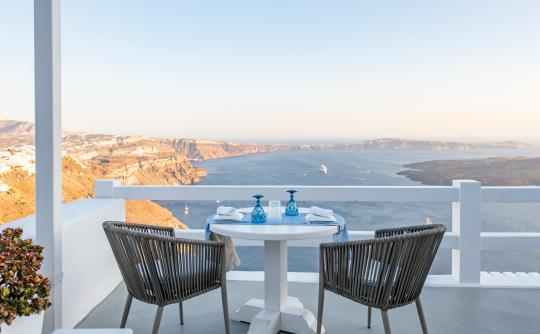 Aqua Luxury Suites | Aqua Mare Restaurant, Imerovigli, Santorini, Cyclades, Greece