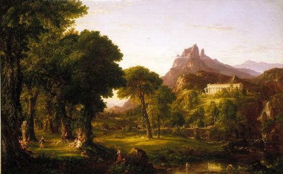 Thomas Cole, Dream of Arcadia, About 1839, Oil paint on canvas, Gift of Mrs. Lindsey Centry, 1954.71, Denver Art Museum