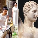 Olympic Flame Lighting, Ancient Olympia, Ilia, Peloponnese, Greece