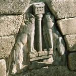 The Lion Gate At Mycenae, Argolis, Peloponnese, Greece