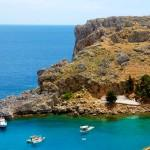 Saint Paul Bay, Lindos, Rhodes, Dodecanese, Greece