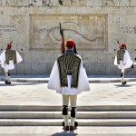 Evzones, Presidential Guard, guarding the Tomb of the Unknown Soldier in Athens, Attica, Greece