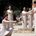 Olympic Flame Lighting, Ancient Olympia, Ilia, Peloponnese, Greece